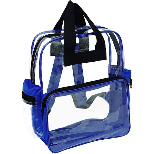 Double Handled Blue Vinyl Backpack