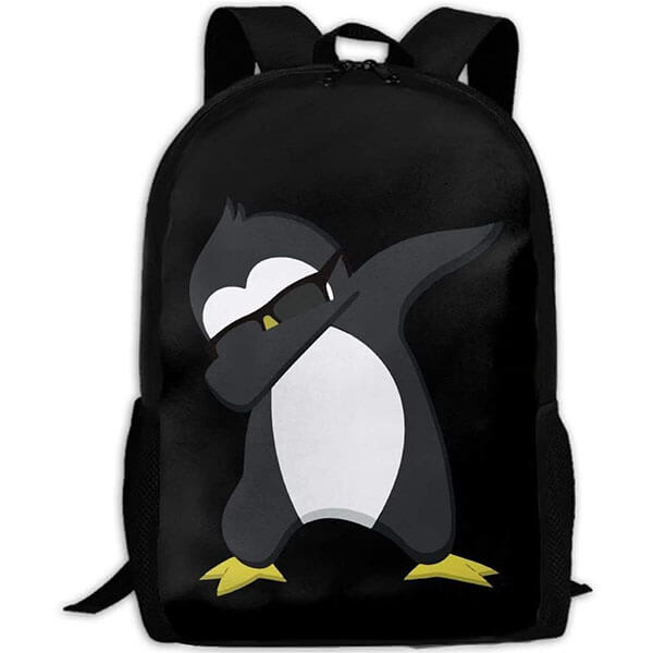 Oxford Cloth Dabbing Penguin Backpack