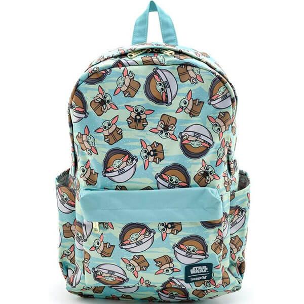 Star War Toss Pattern Yoda Backpack