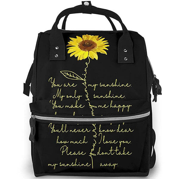 Sunshine Sunflower Toddlers Oxford Backpack