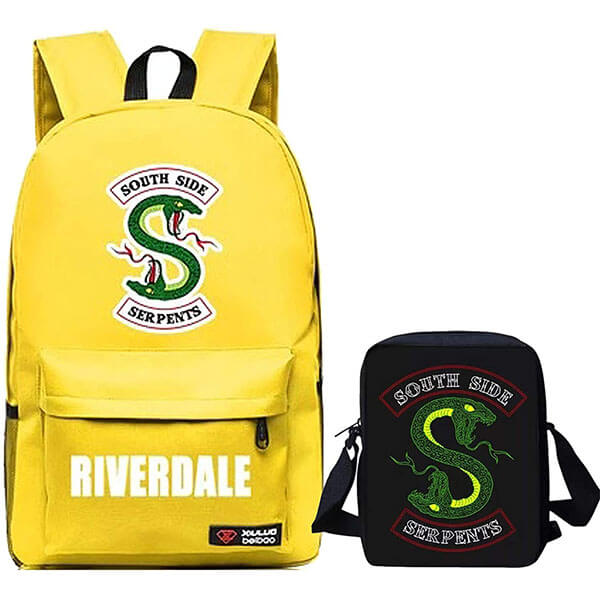 Yellow Riverdale Backpack with Lunch Bag