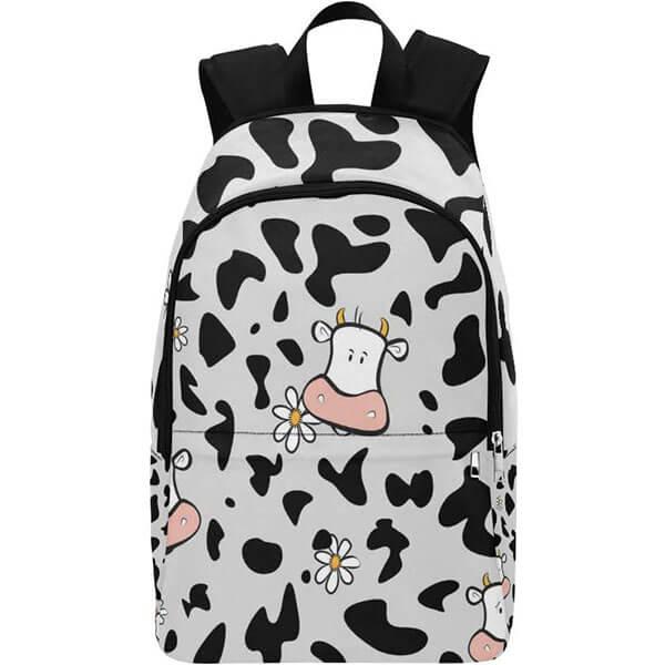 Cow Floral Nylon Waterproof Backpack