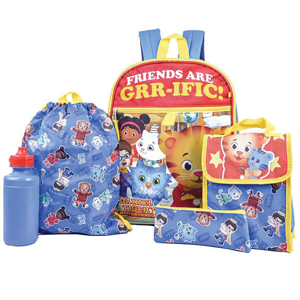 Daniel Tiger Neighborhood 5 pc Backpack Set