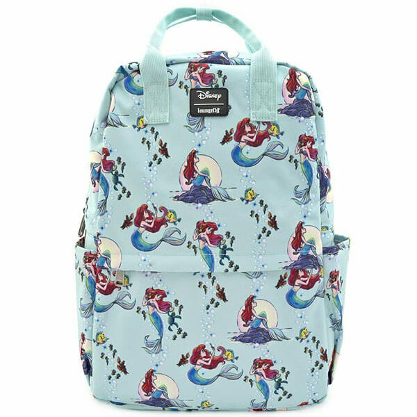 Disney Nylon Backpack with Ariel Scenes