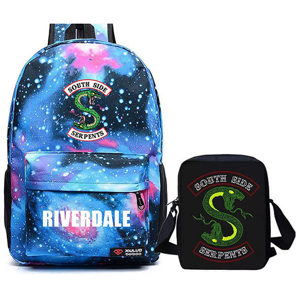 Galaxy Riverdale Backpack with Lunch Bag