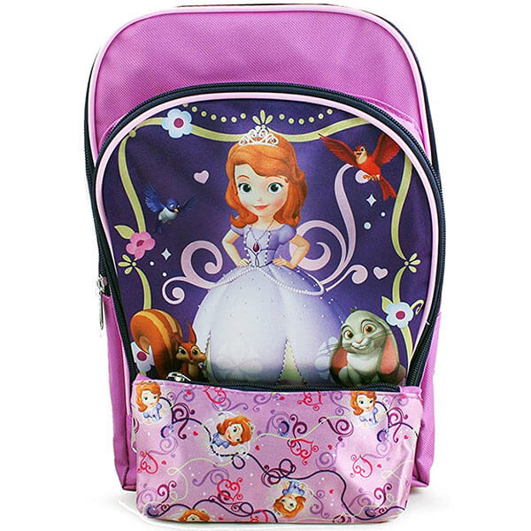 Sofia the First Canvas Backpack with Pencil Case