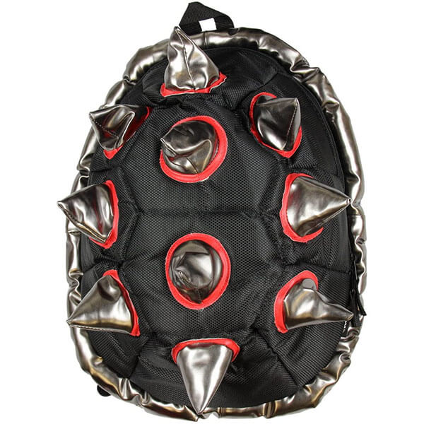 Spiked Black-Red Shell Backpack