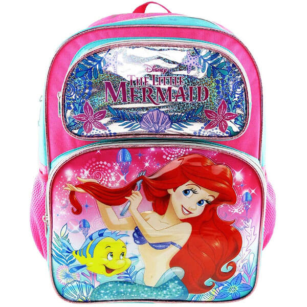 3D Embossed Little Mermaid Backpack