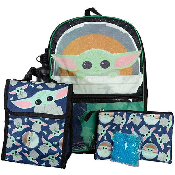All Over Yoda Print Yoda Backpack set