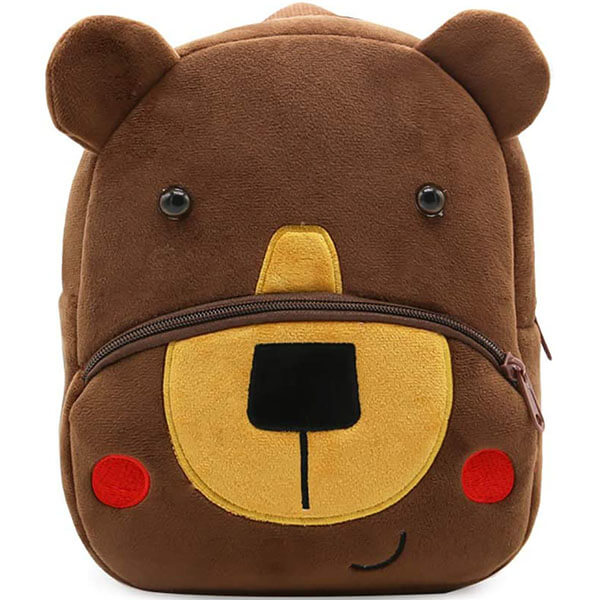 Cartoon Bear Plush Backpack