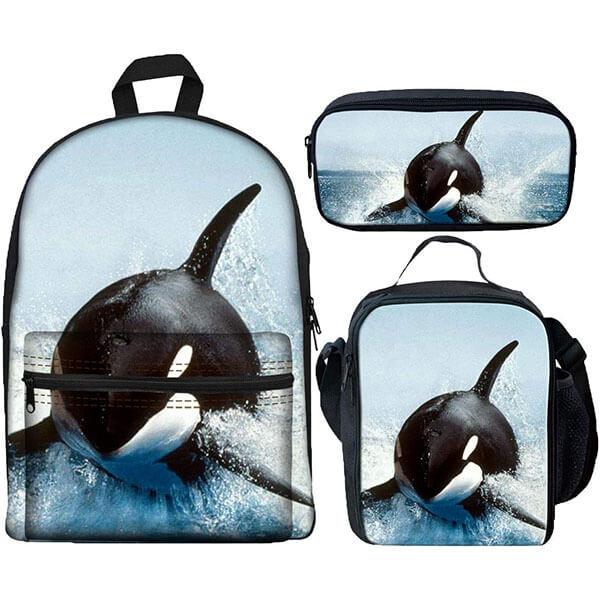 Comfortable Sea Animal Backpack Set