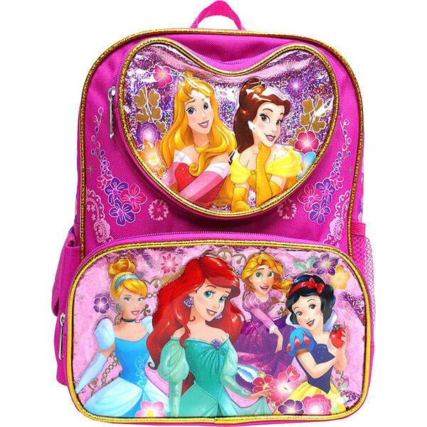 Mermaid & Snow White Backpack for Preschool