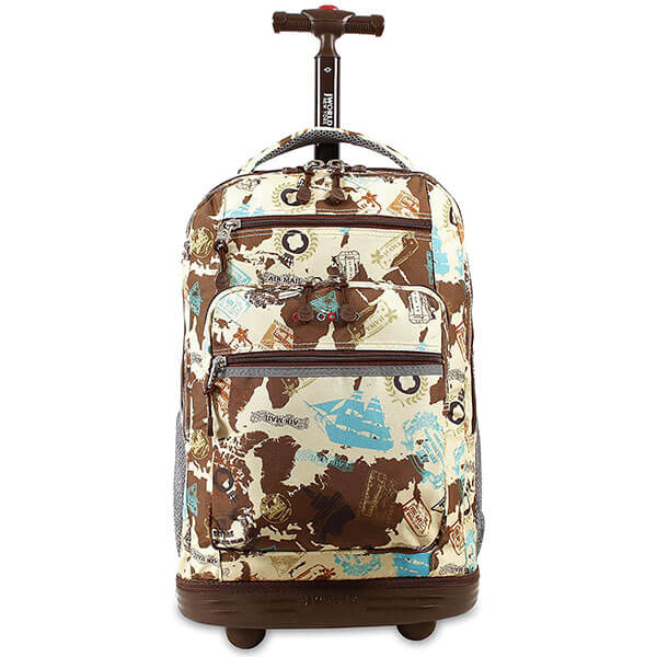 Trolley Map Backpack with a Metal Frame