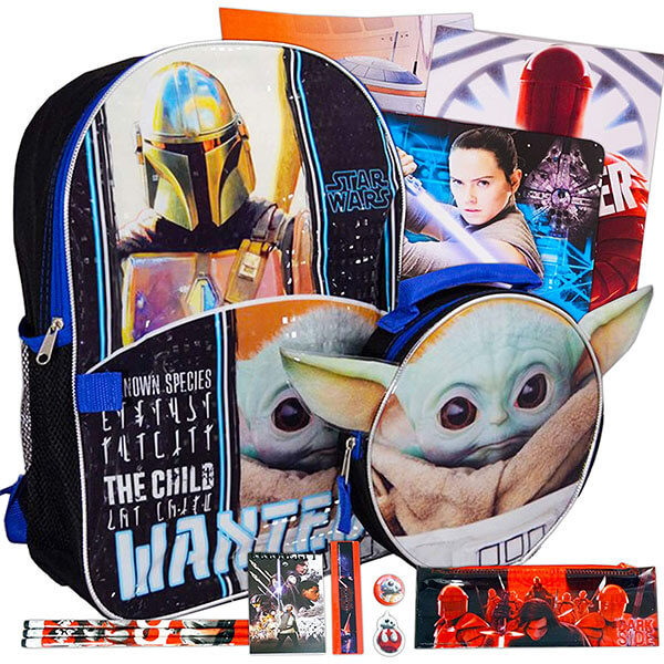17 Piece Star War Characters Backpack Combo Set