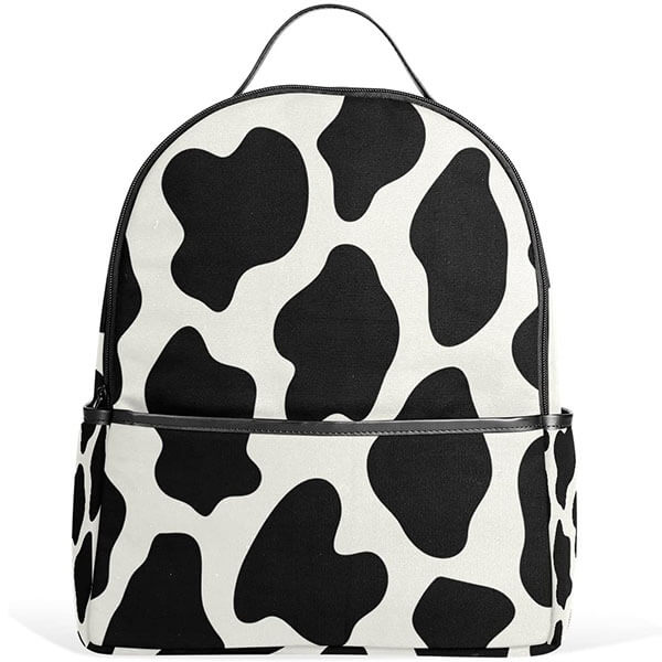 Animal Cow Print Polyester Backpack