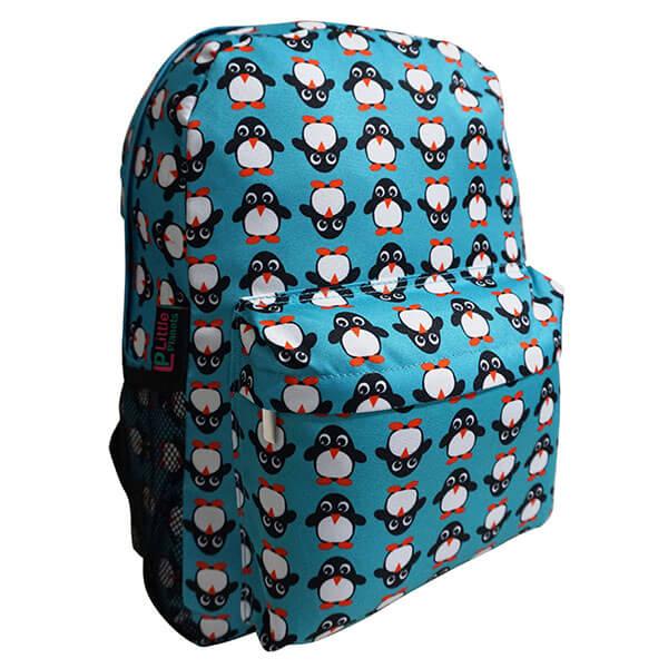 Blue Oxford Penguins' Pattern Backpack