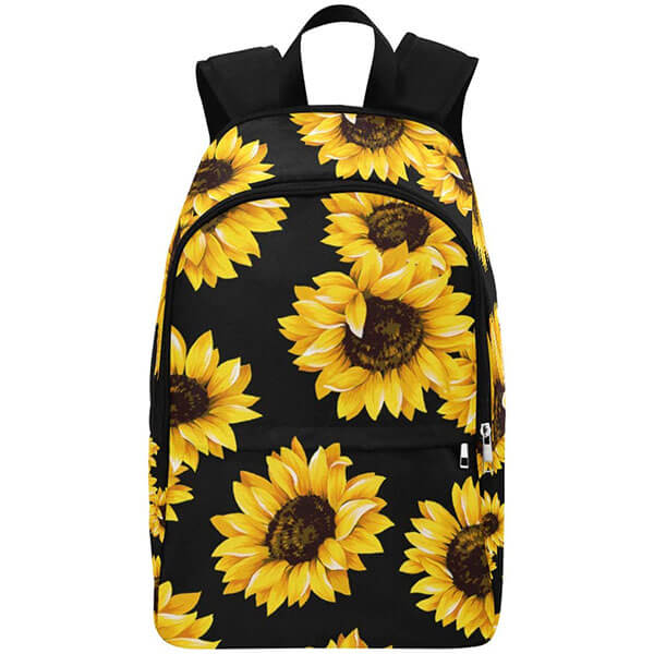 Grade Schoolers Nylon Backpack with Floral Prints