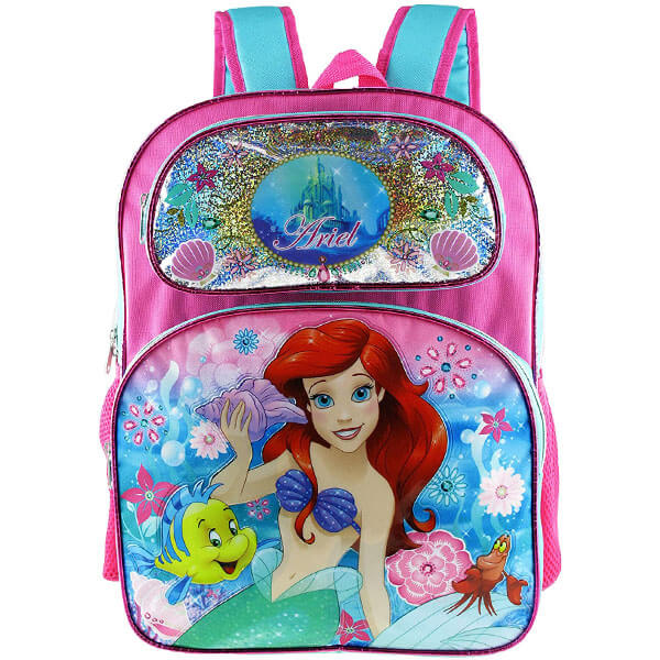 Princess Ariel Floral Print Backpack