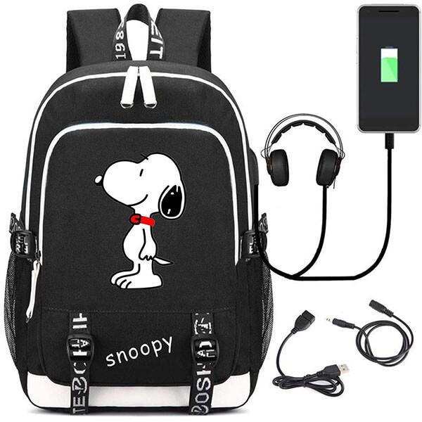 Snoopy Cosplay Backpack School Bag Daypack