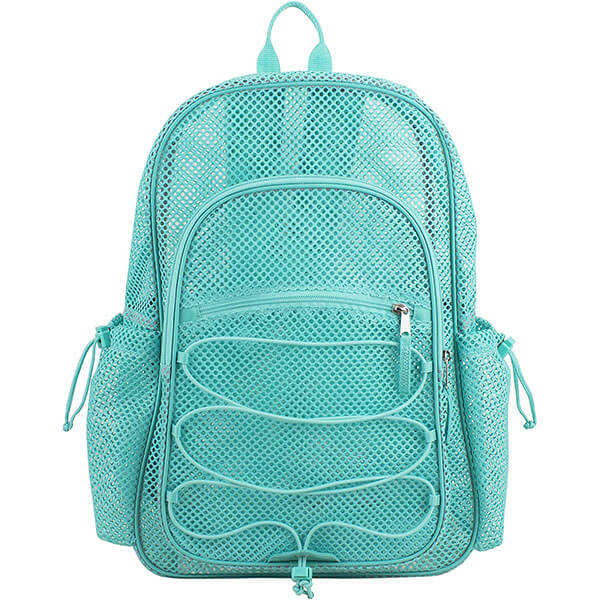 Turquoise XL Semi-Transparent Mesh Backpack