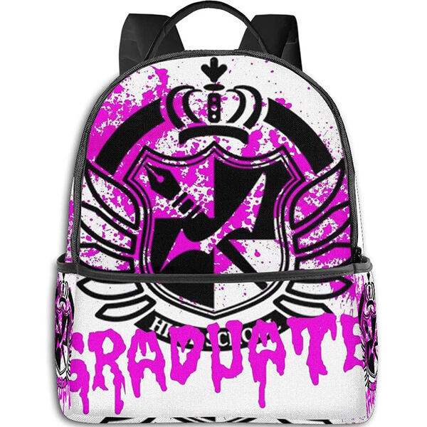 Danganronpa Backpack with Pink Graphical logo
