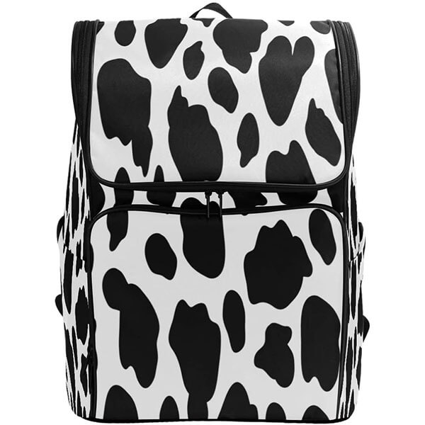 Chiffon Cow Print Backpack