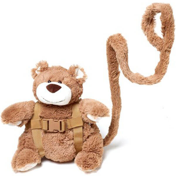 Cuddly Bear Backpack with Harness