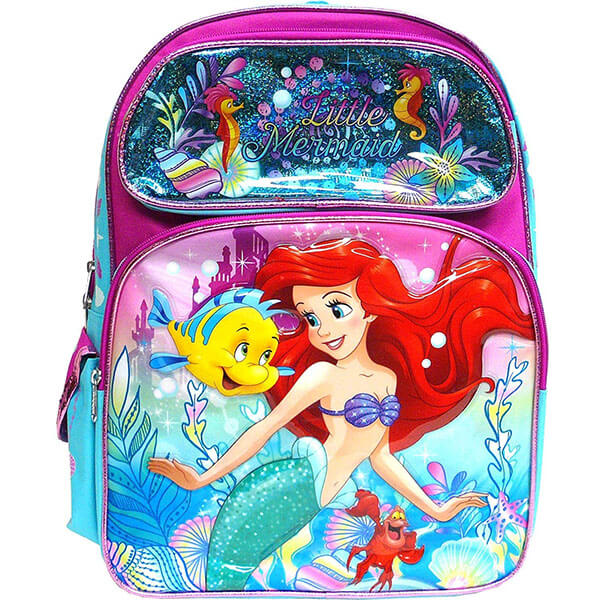 Multi-Color the Little Mermaid Backpack