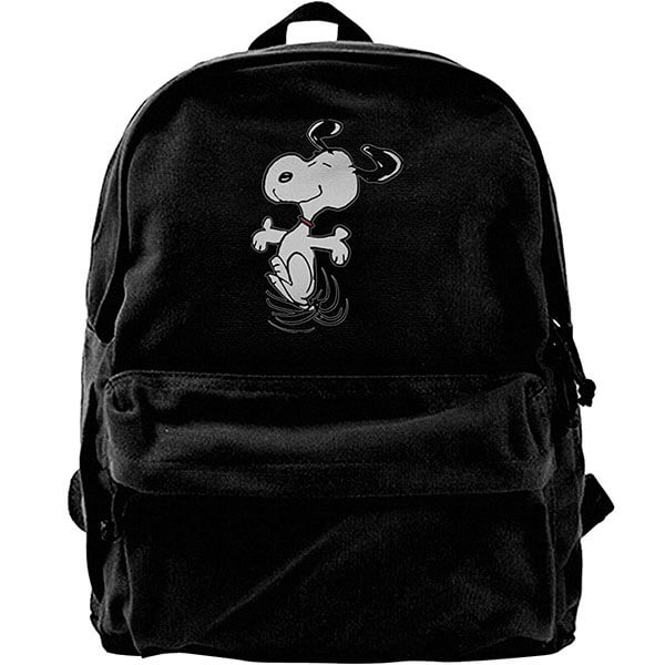 Snoopy Peanuts Canvas Backpack for Men Women