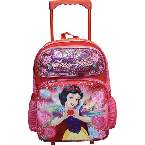 Snow White Luggage Wheeled Backpack