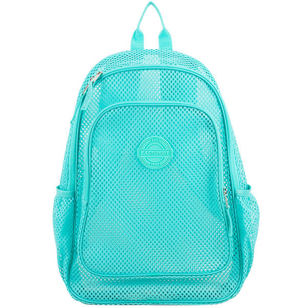 Turquoise Semi-Transparent Mesh Backpack