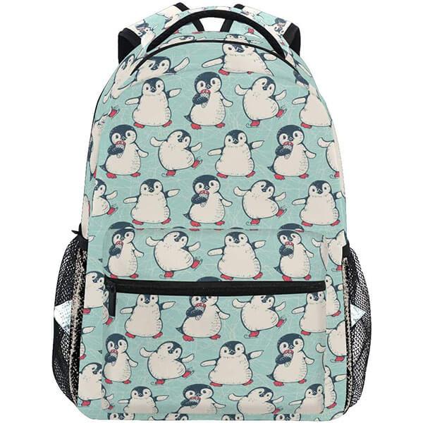 Waterproof Light Valley Green Penguin Backpack