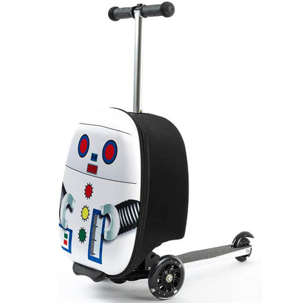 Black and White Scooter Luggage Backpack