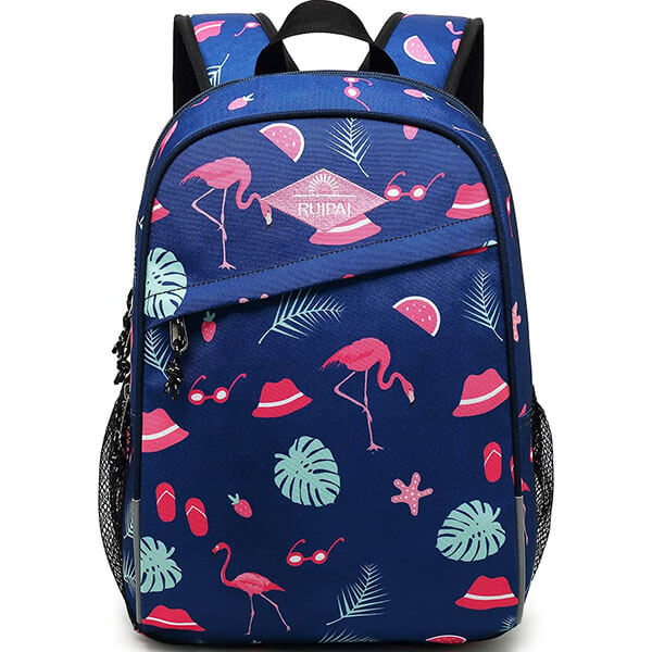 Flamingo Backpack with Sunglass Hat print