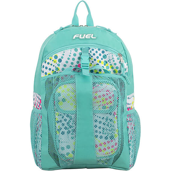 FUEL Water-Resistant Turquoise Backpack with Lunch Bag