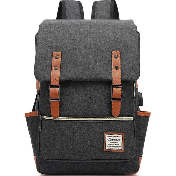 Snap Designed Slim School Backpack with USB Port