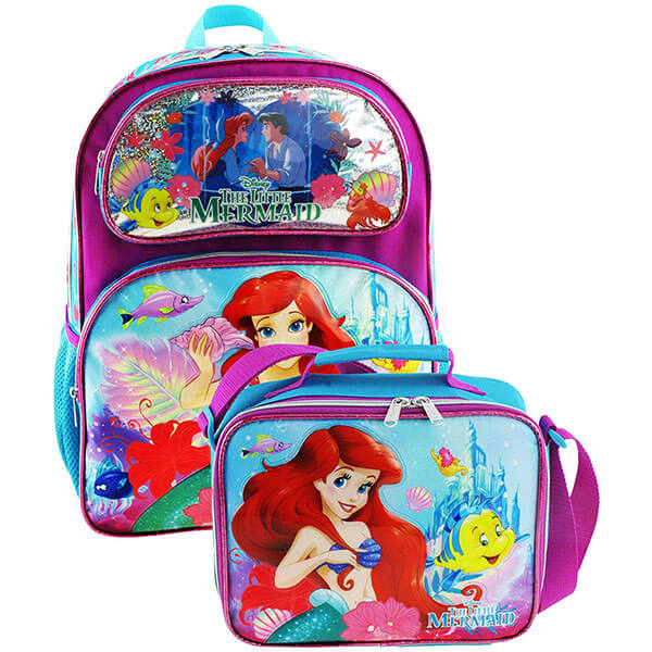 2in1 Princess Ariel and Prince Eric Backpack