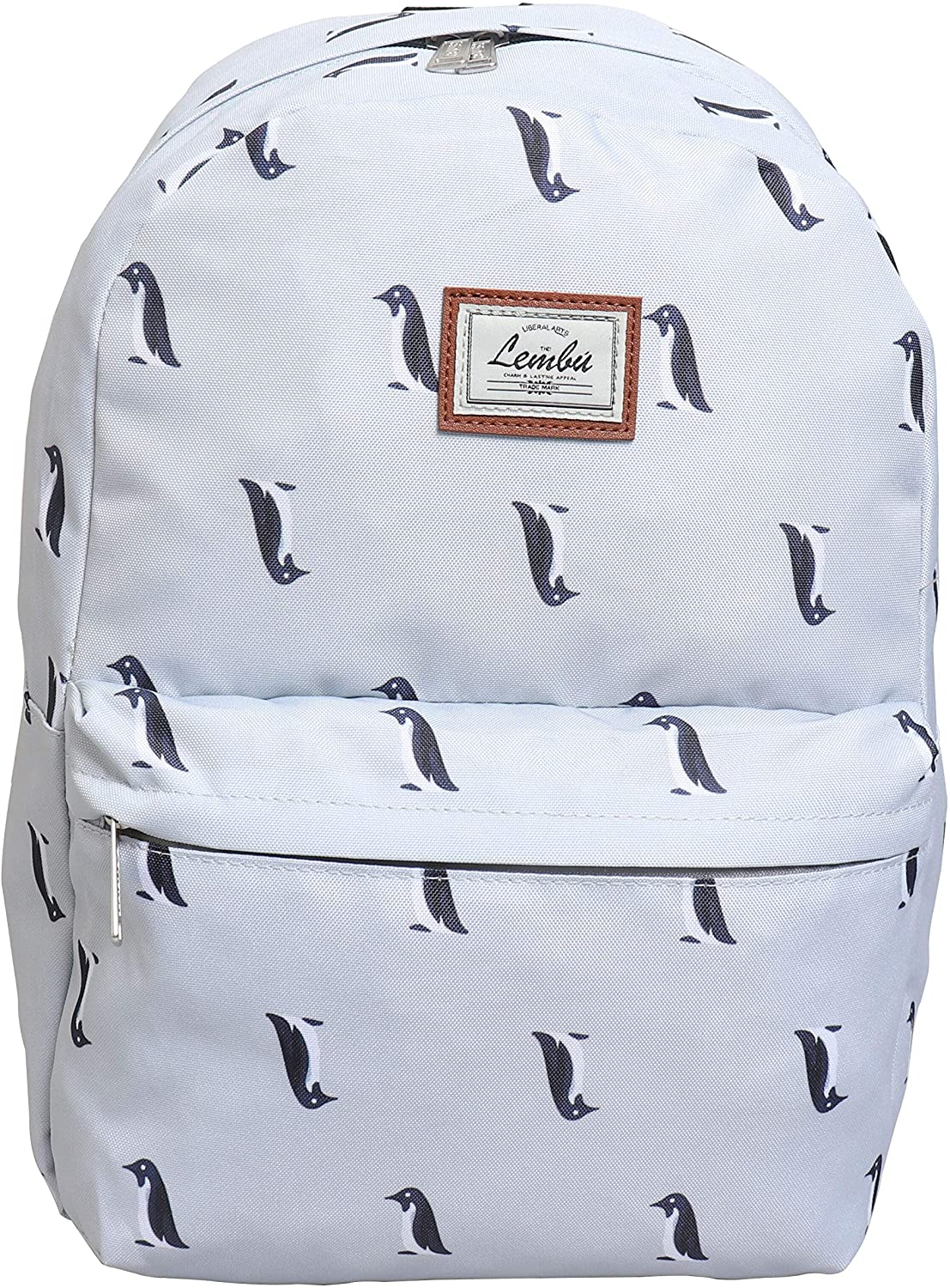 Adorable White Color Printed Penguin Backpack