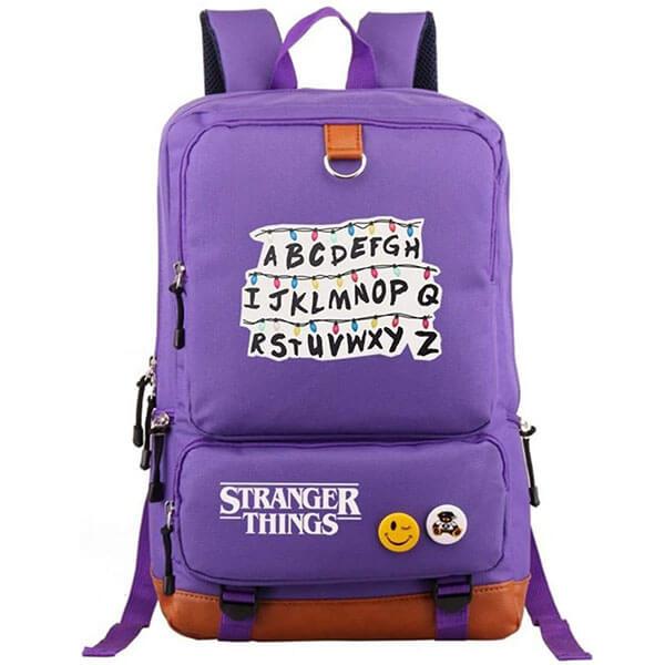 Canvas Light Violet Stranger Things Backpack