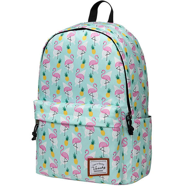 Flamingo Backpack with Pine Apple Print