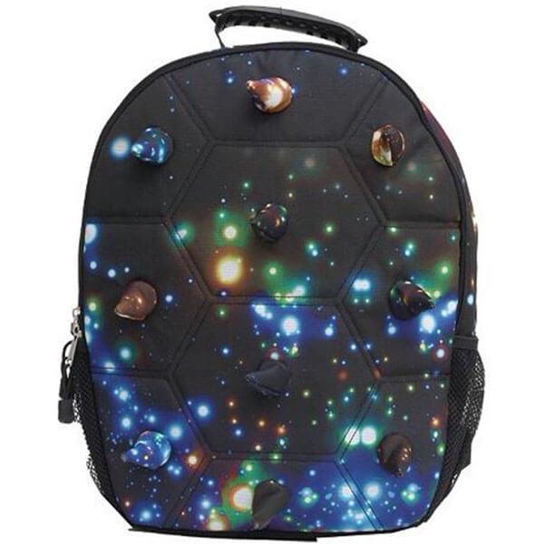 Galaxy Print Spike Shell Backpack