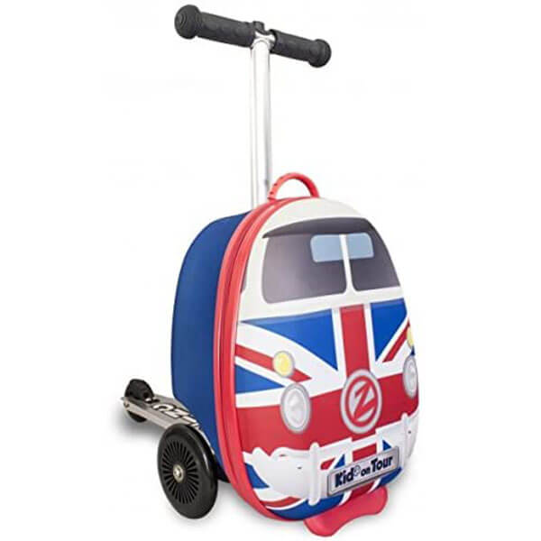 Multicolor Design Scooter Suitcase Backpack