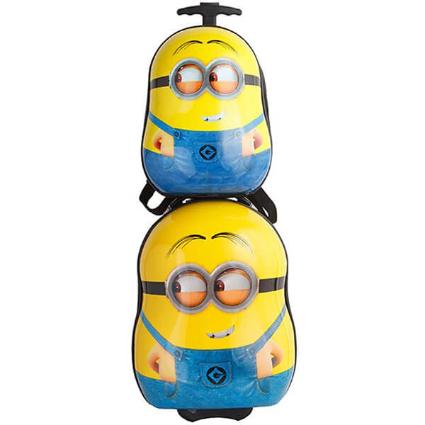 Rolling Funny Minion Backpack Set