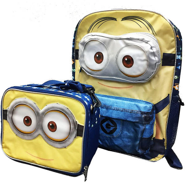 3D Minion's Eyes Bookbag 2 in 1