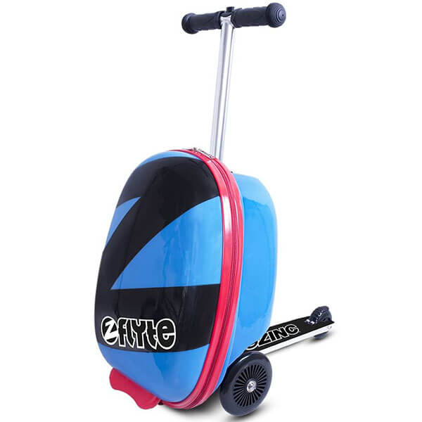 Blue and Black Rolling Scotty Backpack