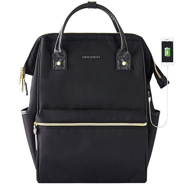 Stylish Nylon Handbag Backpack with USB Port