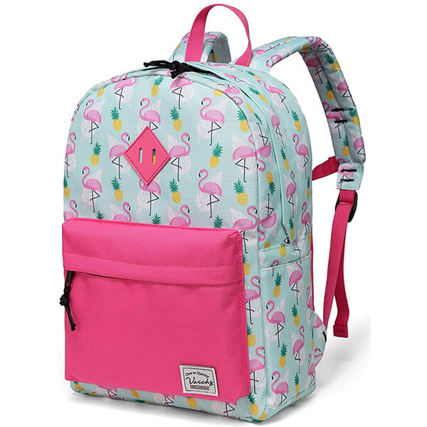 Water Resistant Flamingo Backpack with SBS Zipper
