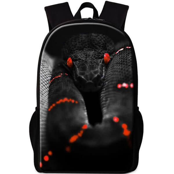 Aggressive Snake Print Backpack