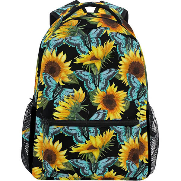 Blue Butterfly Water-resistant Sunflower Backpack