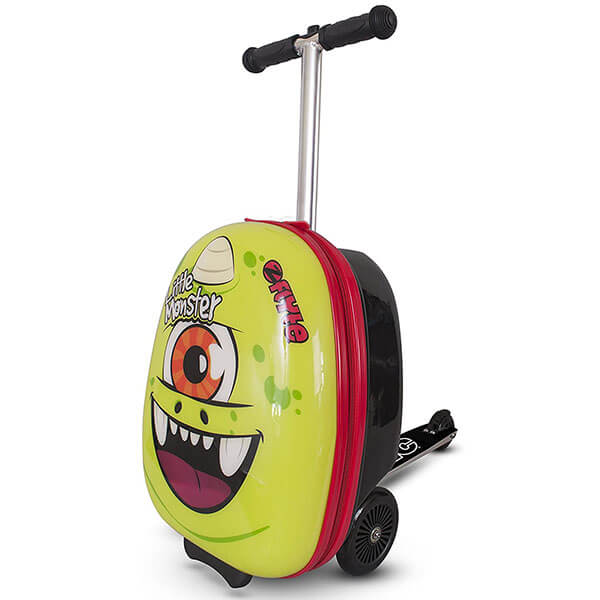 Little Monster Print Scooter Luggage Backpack